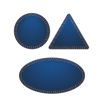 Grande set di etichette blu