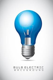Sfondo blu lampadina
