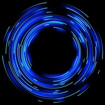 Effetti di luce blu.