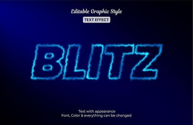 Luce blu elettrica, effetto di testo modificabile