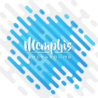Blue memphis banner background