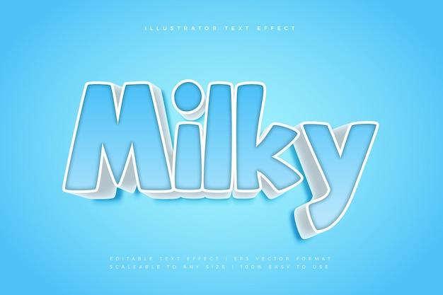 Effetto carattere stile fumetto blu latteo