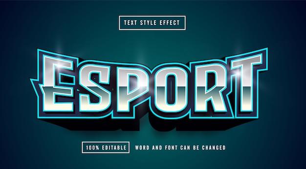 Blu menta esport gaming logo effetto stile testo modificabile