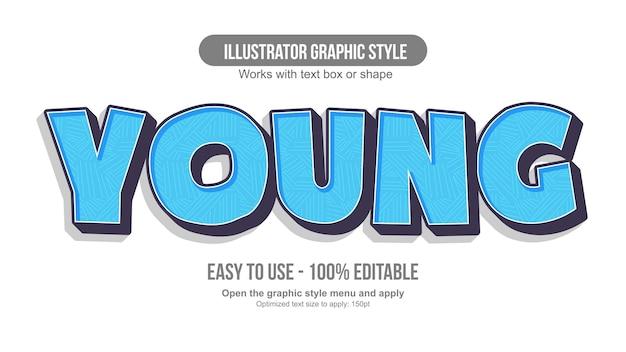 Tipografia cartone animato moderno blu