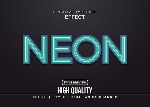 Effetto neon blu stile testo
