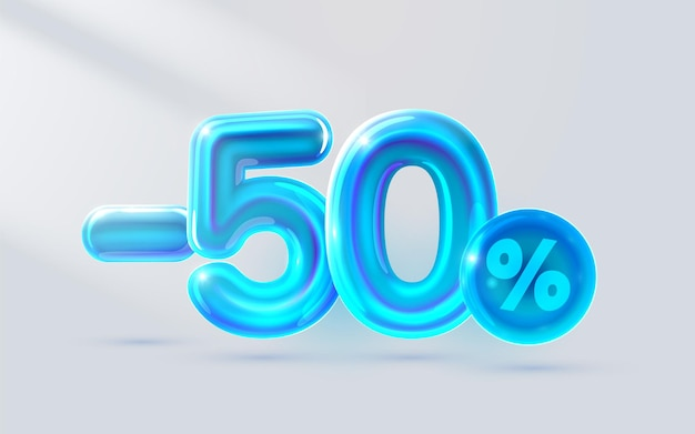 Blu fuori vendita banner luce neon flyer retro etichetta vettore