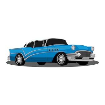 Vecchia automobile blu
