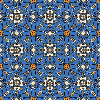 Motivo ornamentale blu