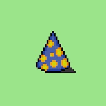 Cappello da festa blu con stile pixel art