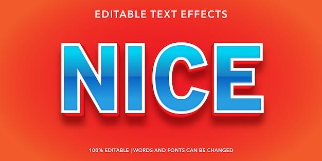 Effetto di testo modificabile piacevole blu rosso