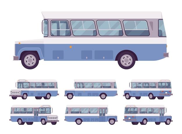 Autobus retrò blu