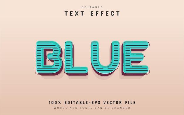 Effetto di testo in stile retrò blu