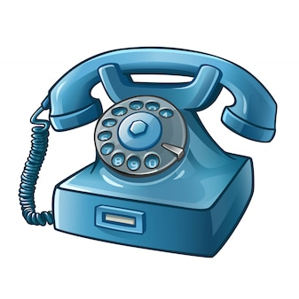Telefono retrò blu