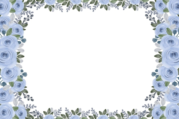 Cornice acquerello rose blu
