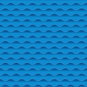 Modello blu apparente della geometria astratta dell'acqua di mare. fondo dell'onda di acqua. illustrazione. elemento di design.