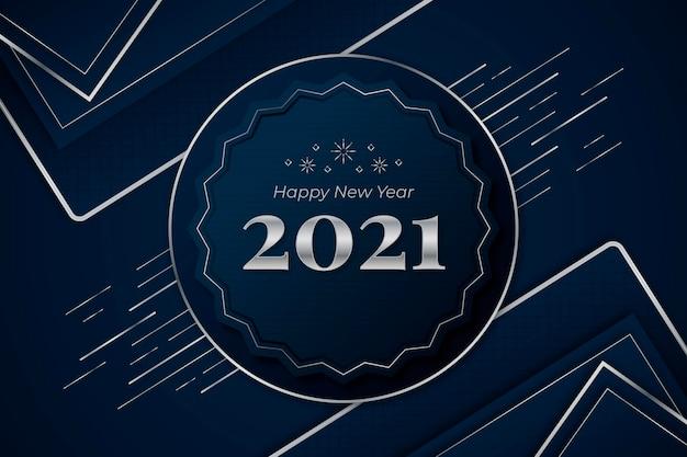 Blu e argento felice anno nuovo 2021
