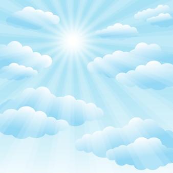 Cielo azzurro e sole