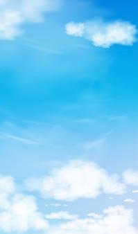 Cielo blu con sfondo di nuvole altostratus