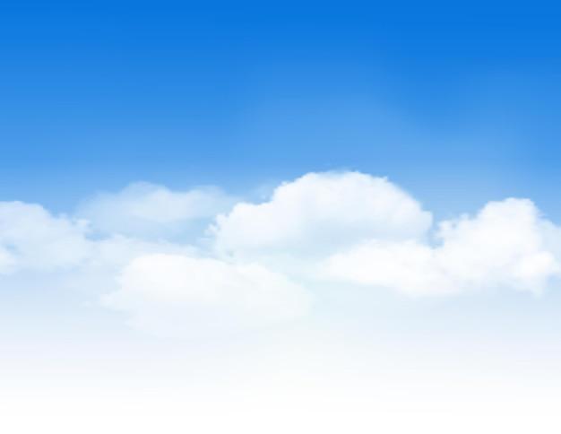 Cielo azzurro con nuvole bianche. sfondo vettoriale.
