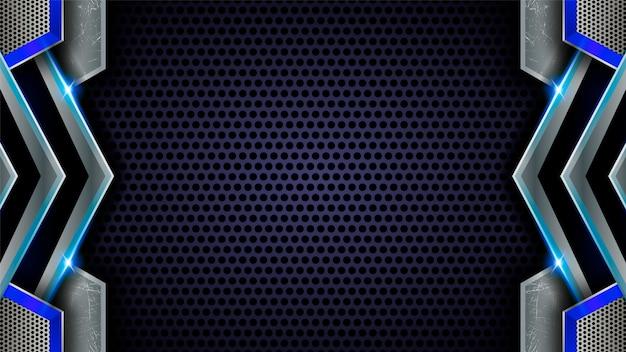 Sfondo astratto in acciaio blu