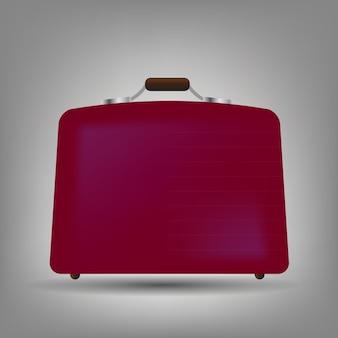 Illustrazione vettoriale icona valigia blu