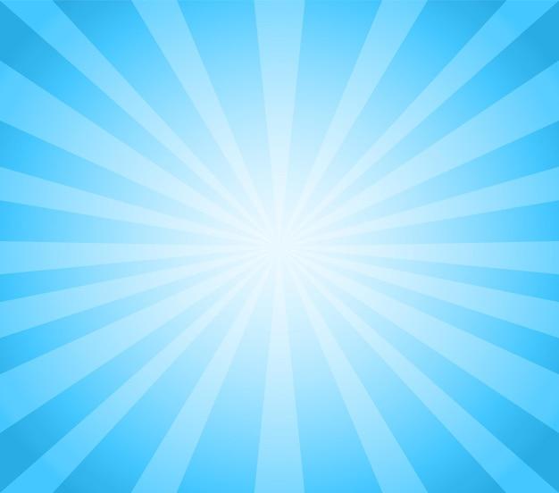 Sfondo vintage blu sunburst