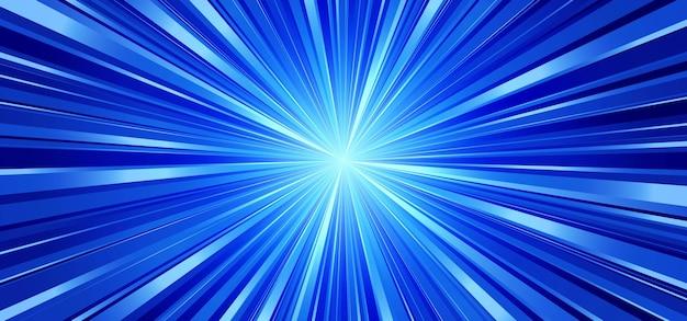 Blue tech sunburst raggi in acciaio sfondo