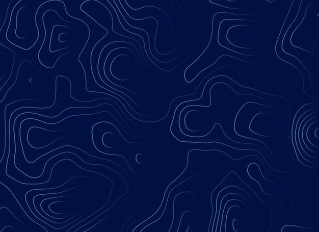 Disegno di illustrazione mappa topografica blu