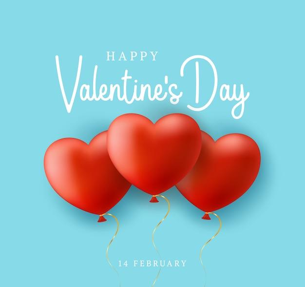 San valentino blu con cuore di palloncini