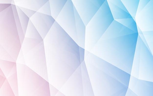 Struttura di mosaico del triangolo vettore blu.