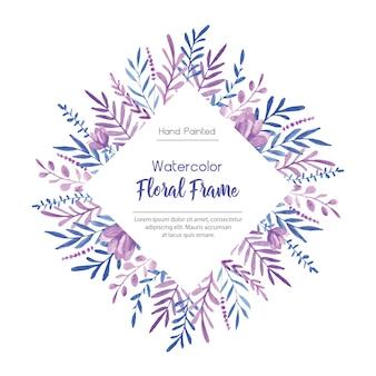 Cornice dell'acquerello blu e viola