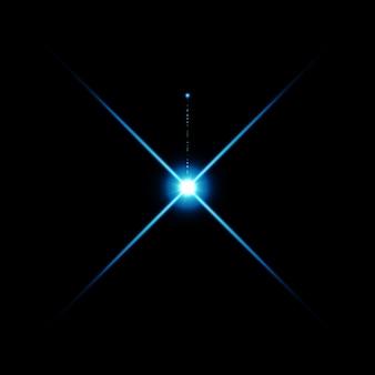 Il riflesso luminoso dell'obiettivo di colore blu caldo ha perdite