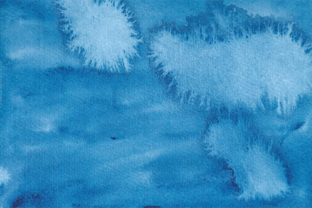 Trama di sfondo astratto acquerello blu Vettore Premium