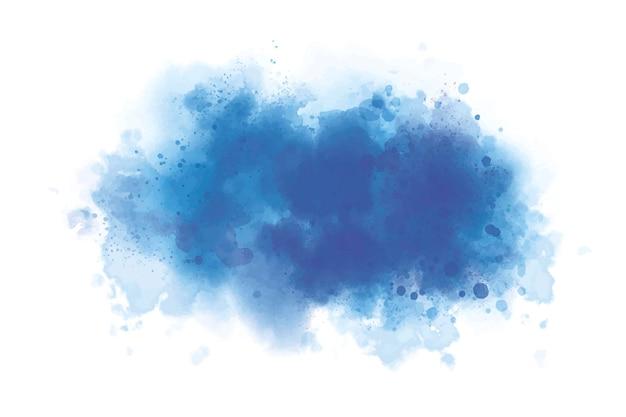 Acquerello blu su sfondo bianco in stile grunge illustrazione vettoriale
