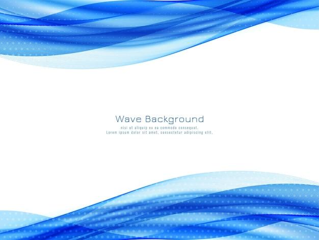 Fondo moderno decorativo dell'onda blu