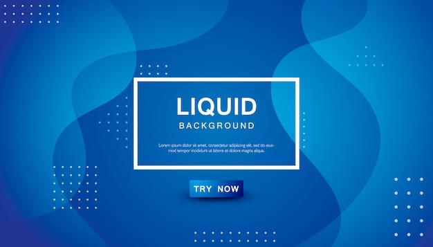 Sfondo di colore liquido onda blu