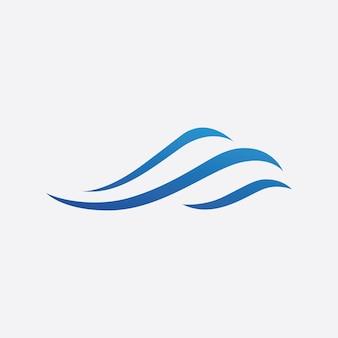 Vettore di marchio dell'onda blu. disegno del modello di illustrazione dell'onda d'acqua