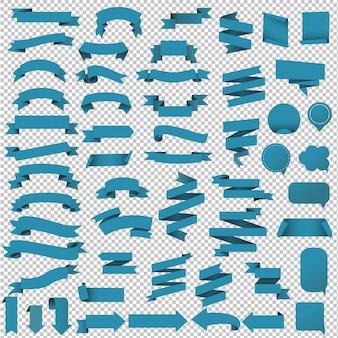 Blue web ribbon set illustrazione