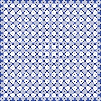 Modello di trapunta monocromatica blu e bianco vettoriale. ripeti il design per stampe, tessuti, decorazioni, tessuti, abbigliamento, imballaggi.