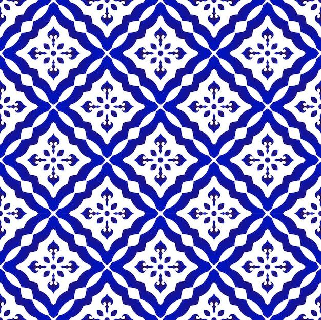 Disegno del modello blu e bianco