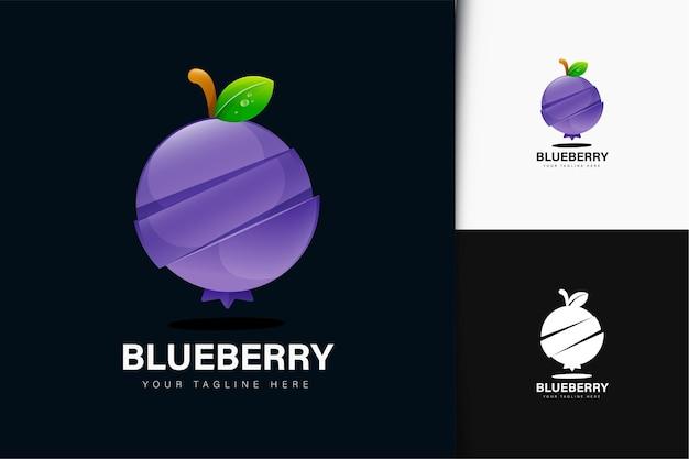 Design del logo del mirtillo con sfumatura