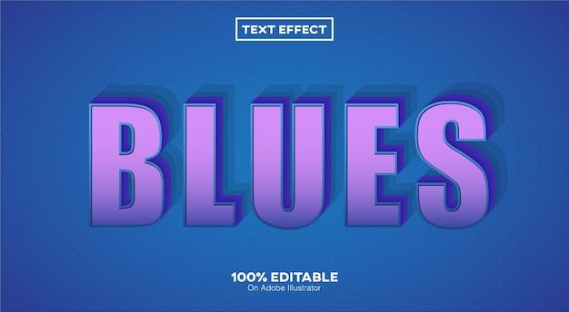 Effetto testo 3d blues