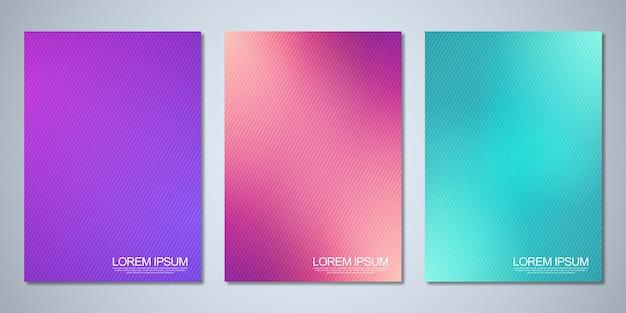 Sfondi sfocati per la progettazione della copertina layout brochure libro poster mockup e modello di volantino