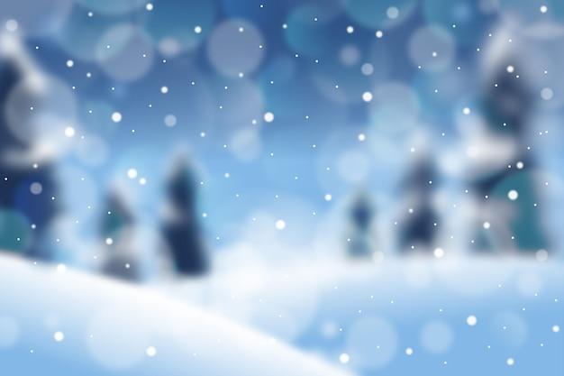 Sfondo sfocato bellissimo inverno