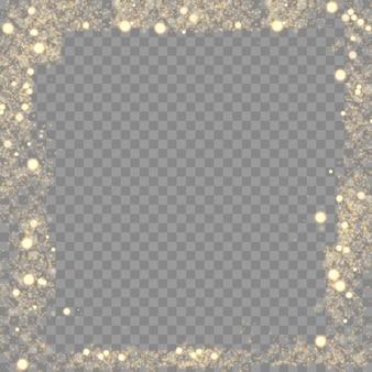 Luce bokeh sfocata. abstract glitter sfocato stelle lampeggianti e scintille cornice sfondo