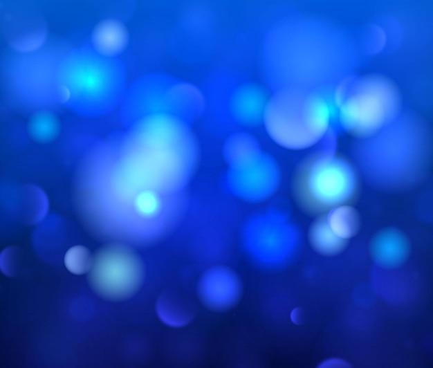 Bokeh astratto luminoso sfocato. sfondo luminoso blu festivo con luci colorate. l'oro luminoso della notte brilla di luce.