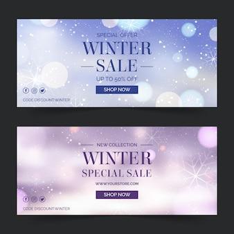 Banner di vendita invernale offuscata
