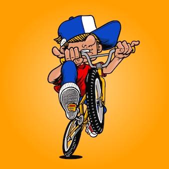 Illustrazione del ragazzo di bmx