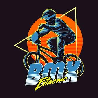 Illustrazione grafica di bmx extreme