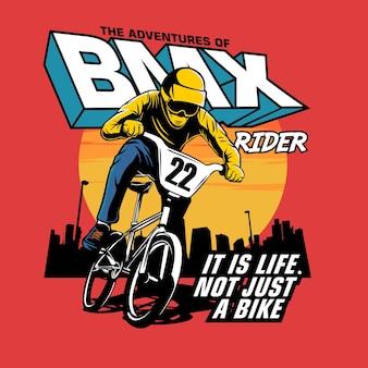 Illustrazione grafica di bmx rider
